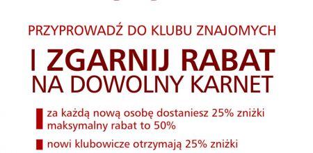 Czytaj więcej: Rabat na karnet nawet 50% przez 3 miesiące.